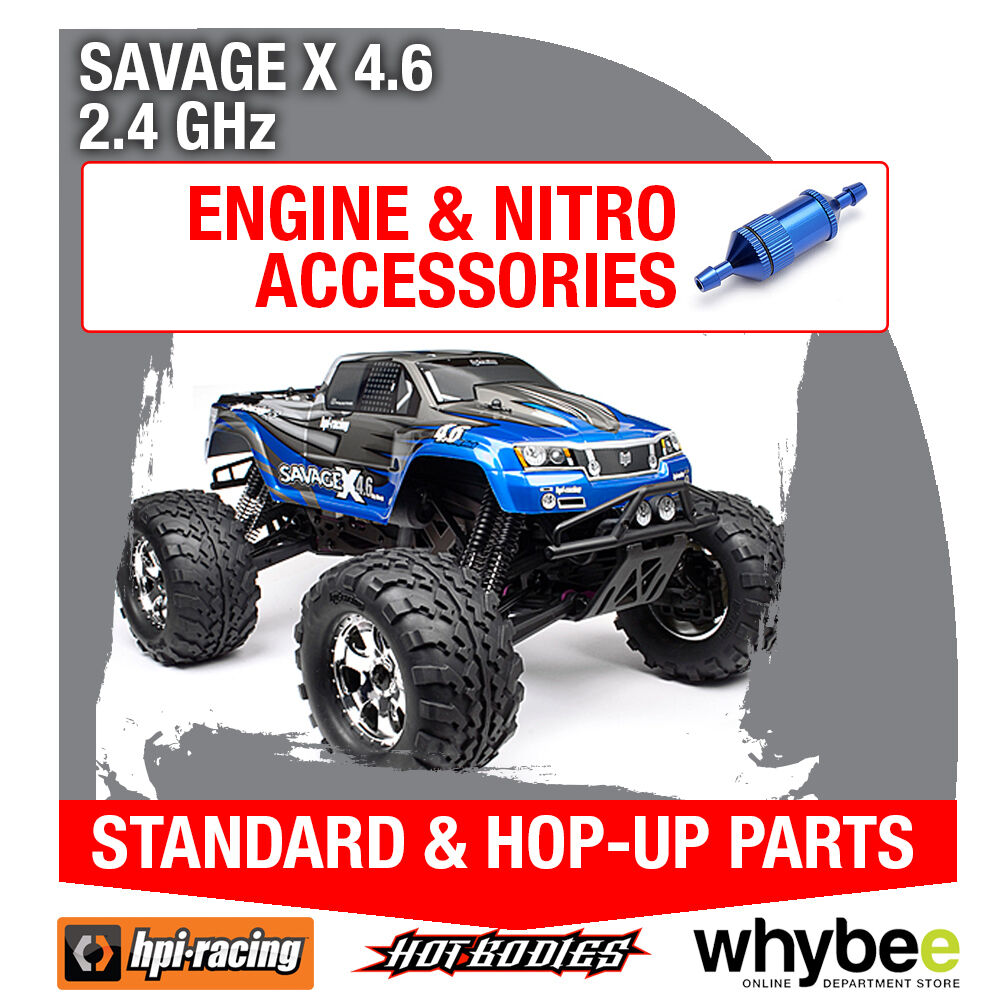 HPI SAVAGE X 4.6 2.4GHz [All Engine Parts] Genuine HPi Racing R C Parts