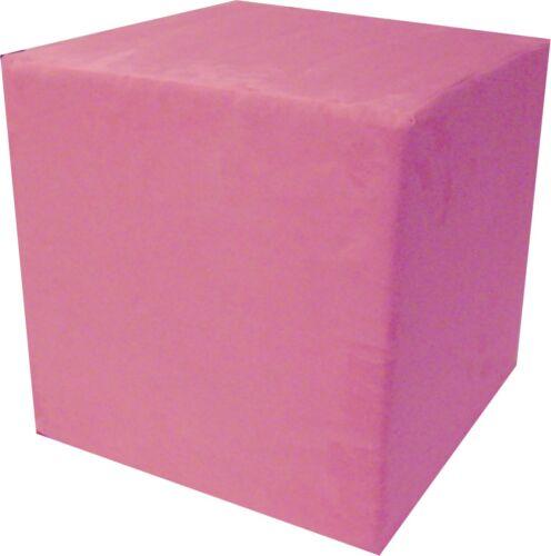 Kinderwürfel Schaumstoff Würfel Sitzwürfel 30x30x30 Velour Pink Rosa