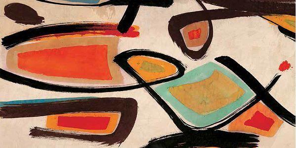 Teo Vals Perelli  Tropicalia Keilrahmen-Bild Leinwand abstrakt modern bunt