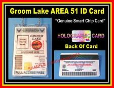 Novelty AREA 51 - Groom Lake ID Card - AIR FORCE USAF - Military CAC ALIEN - FBI