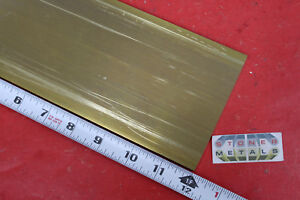 "1//4/"" x 1//2/""  C360 Brass Solid Flat Bar 12/"" long 1 Piece New Brass Stock H02"