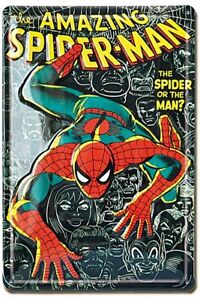 The-Amazing-Spiderman-embossed-steel-sign-300mm-x-200mm-lsh