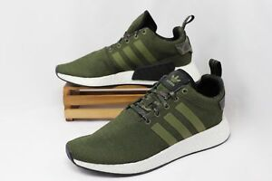 d9ae68d0d09021 Details about NEW Men s Adidas NMD R2 Casual Shoes Green Camo Boost Size 13  B22630