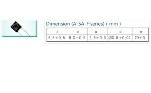 5Pcs AUPO Thermal Fuse Tf 102℃ 250V 5A A1-5A-F
