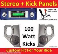 1964-66 Chevy Truck Radio & Kicks W Speakers 230