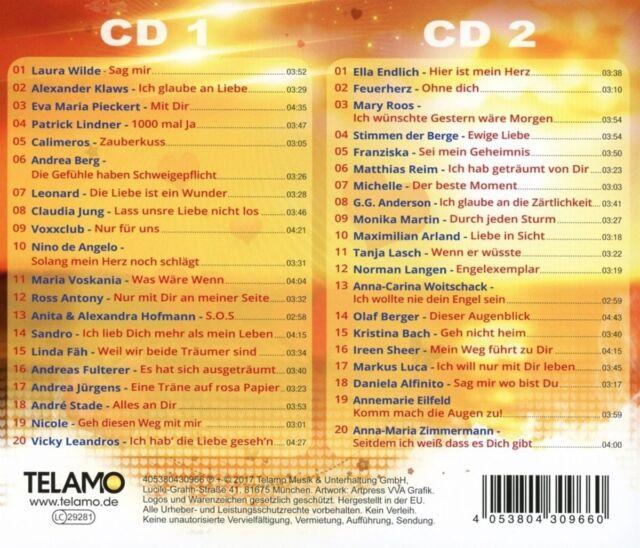 SCHLAGER ZÄRTLICHKEITEN  2 CD NEU