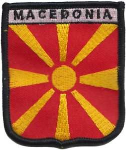 MACEDONIA OLD Country Flag Metal lapel PIN BADGE ..NEW