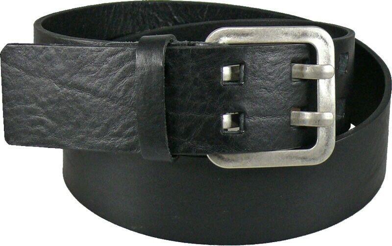 Ledergürtel in 5 cm Breite schwarz