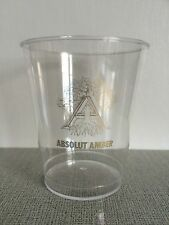ABSOLUT VODKA AMBER PLASTIC CUP * USED * EXTREME RARE