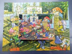 DDR Original Annaberger Puzzle 200 Teile Schweinchen basteln OVP RAR!