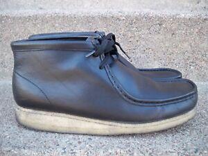 055f5fe6 Clarks Originals #35401 Black Leather Chukka Crepe Sole Moccasin ...