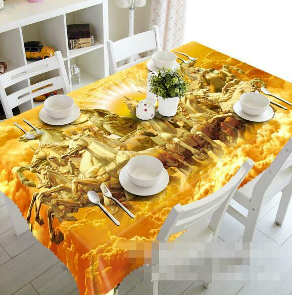 3D Sun horse 5 Tablecloth Table Cover Cloth Birthday Party Event AJ WALLPAPER AU