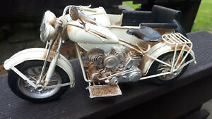 29cm Blech Harley Davidson Metall Motorrad Beiwagen Nsu Bmw Dkw Panhead Nuckle Wasserdicht StoßFest Und Antimagnetisch Antikspielzeug