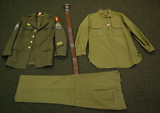 AUTHENTIC WW2 USA ARMY TECHNICIAN 3rd GRADE UNIFORM NO RESERVE