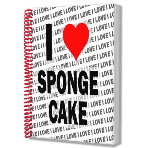 I Love Sponge Cake A5 Notebook Pad Diary Drawings Birthday Christmas Gift