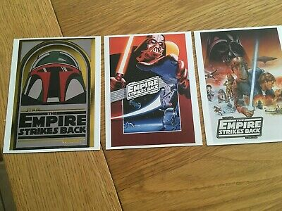 exclusive LEGO STAR WARS 40th ANNIVERSARY CARDS 5006254 EMPIRE STRIKES BACK