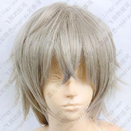 195 Inu x Boku SS Miketsukami Soushi Cosplay Costume Grey Wig