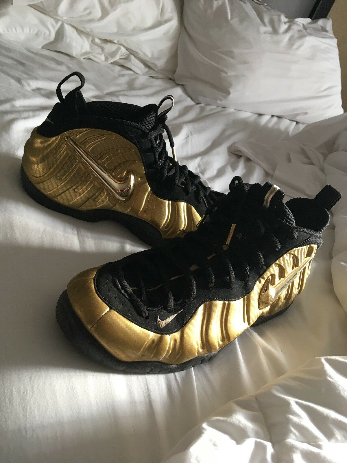 PADS Nike Foamposite Pro Metallic gold Size 12, Og All