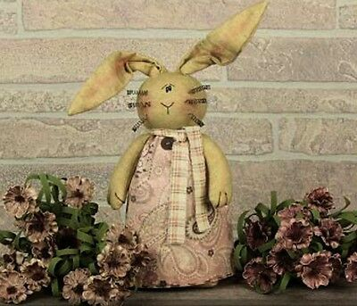 Primitive `Bunny Rabbit with Dress and Rusty Whiskers`Honey and Me`Retail $21.99