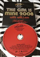 Michael Jackson & Will.I.Am - The Girl Is Mine 2008 Rare CD Single