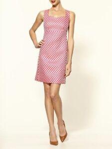 New Women Lilly Pulitzer Adriana  Island Coral Scallop Jacquard Dress Size 2