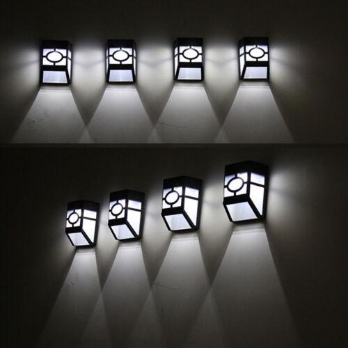 LED Solar Powered Wall Mount Light Outdoor Garden Yard Night Waterproof Lamp