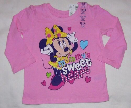 DISNEY BABY GIRL MINNIE MOUSE MOMMY/'S SWEETHEART PINK L//S TOP 6-9M 2T