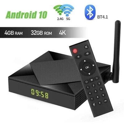 Android tv Box 10.0, H616 Quad-Core 64 Bits mit Dual 2.4G//5.8G WiFi 4G RAM+ 32G ROM BT 5.0 UHD H.265 Ethernet LAN Unterst/ützung 3D 6K TV Box mit hintergrundbeleuchtete Tastatur Set Top TV Box