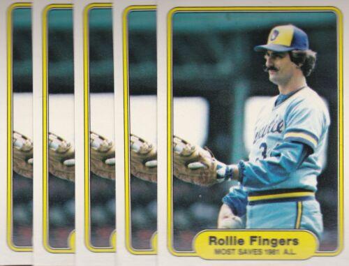 1982 FLEER BASEBALL LOT 5 ROLLIE FINGERS #644 BREWERS NMMT//MINT *L2874