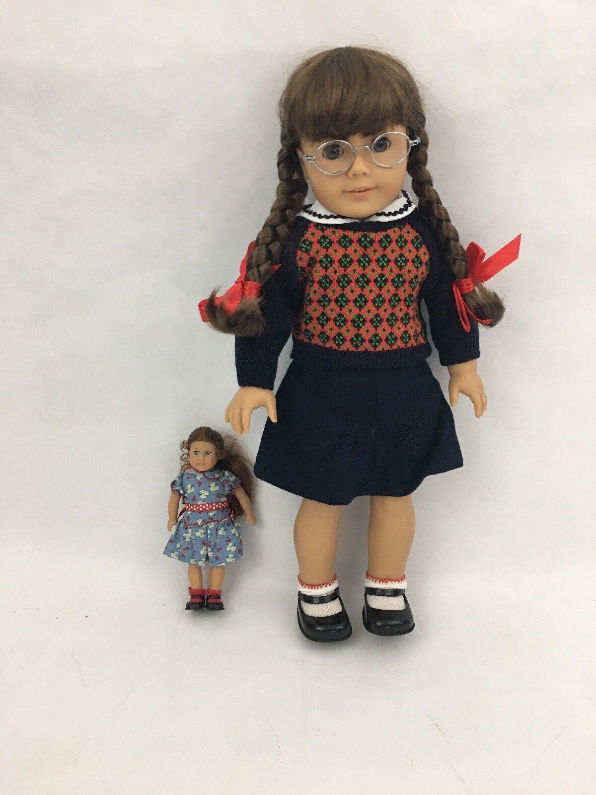 Jubilado American Girl Doll Molly McIntire Excelente Estado Con Extras