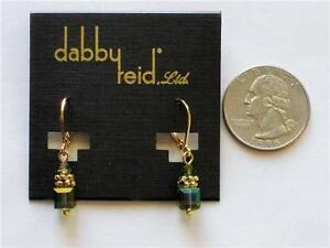 Image Is Loading Dabby Reid Heidi Earrings Olivine Swarovski Crystal 24k