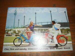 prospekt sales brochure z ndapp mofa moped mokick roller motorrad scooter ebay. Black Bedroom Furniture Sets. Home Design Ideas