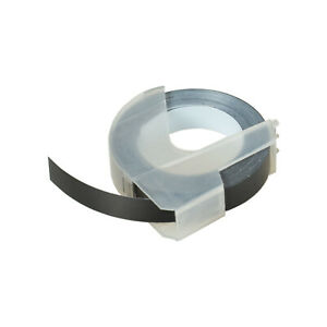 "1PK 3D Tape Label White on Blue 520106 For Dymo Organizer Xpress 12965 1296 3//8/"""