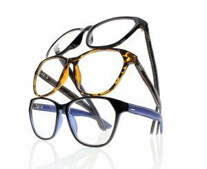 Leather Frame Reading Glasses : Large Oversized Frame Antiskid Reading Glasses Simulated ...