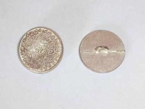 8 Metallknöpfe Knöpfe  20,6mm kupfer//silber pat   240mk