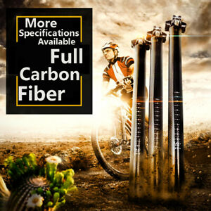 TOSEEK-MTB-Matte-Full-Carbon-fiber-Bicycle-Seatpost-Superlight-27-2-30-8-31-6mm