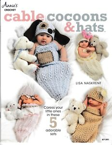 Cable-Cocoons-amp-Hats-Annie-039-s-871391-Crochet-Baby