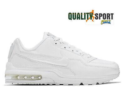 Nike Air Max Ltd 3 Blanc Cuir Chaussures Hommes Sportif Baskets 687977 111 2020   eBay