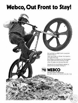 Webco Racing Frames BMX T Shirt 1970s Vintage Style