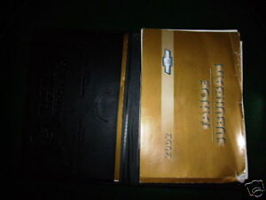 owners manual 2002 chevrolet tahoe suburban ebay rh ebay com 2000 Tahoe 2002 chevy tahoe owners manual free download