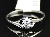 10k Ladies White Gold Round Cut Diamond Solitaire Engagement Wedding Band Ring on sale