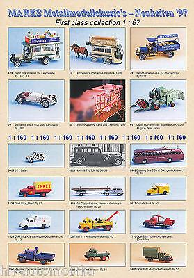 Schnelle Lieferung Marks Modellautos Prospekt 1997 Brochure Model Cars Prospectus Catalog