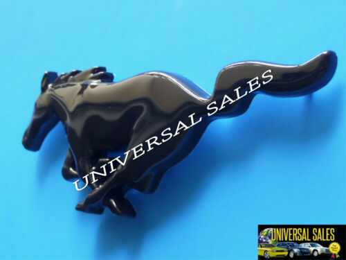 HORSE BLACK GLOSS MUSTANG GRILLE FRONT EMBLEM LOGO PONY 1999-2004 BRAND NEW