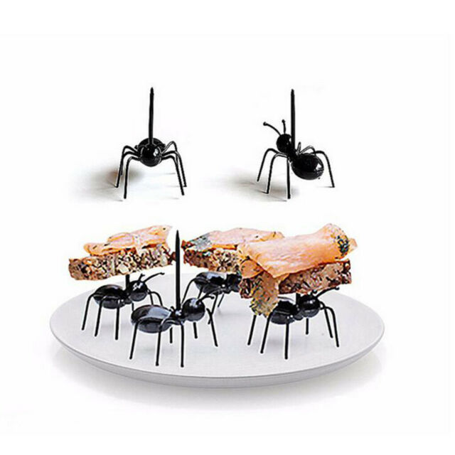 12 Stück~Arbeiter Ameisen Party Obst Gabel Snack Kuchen Dessert Gabeln Dekors DE