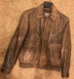 Mens Wilson Leather Bomber Jacket M | eBay
