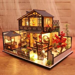 DIY-Miniature-Japanese-Style-Loft-Dollhouse-Furniture-LED-Romantic-Puzzle-Toys