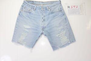 b4f2343b2892 Levis short 501 Destroy Remake ( Cod. R397) Size 50 W36 Jeans ...