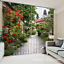 3D Flower road6 Blockout Photo Curtain Printing Curtains Drapes Fabric Window AU