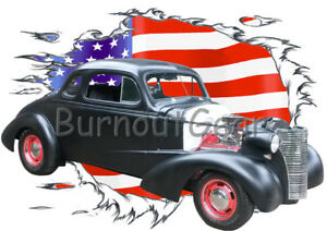 Details about 1938 Black Chevy Coupe Custom Hot Rod USAT T-Shirt 38 Muscle  Car Tees