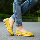 Women Casual Leather Shoe Low to help Ballet Flats Oxford Moccasins Shoes Loafer